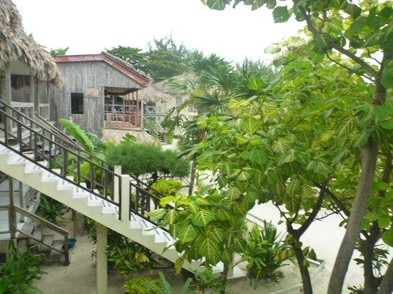 Exotic Caye Beach Resort : View from neighbor's upstairs room