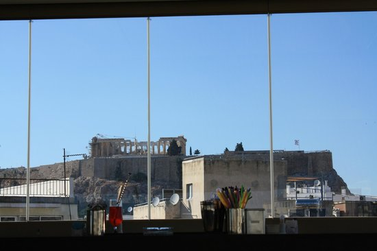 The Athenian Callirhoe Exclusive Hotel : вид из ресторана
