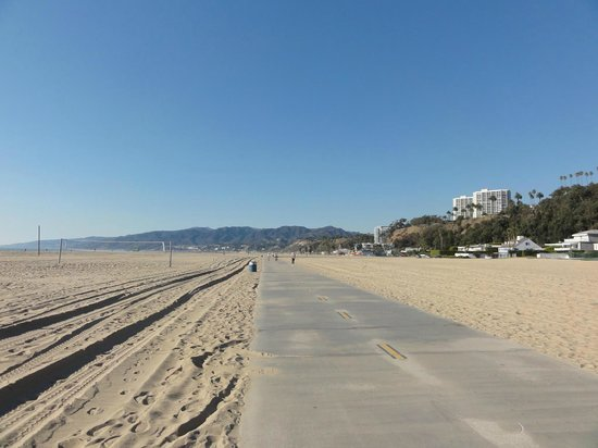 Bike Path From Venice Beach To Santa Monica This Is Taken In