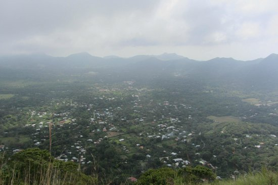 The Sleeping Indian Girl: View from the top of El Valle
