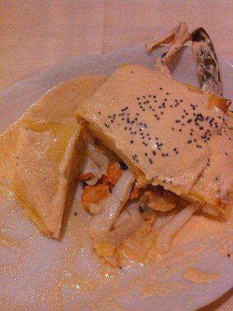 Osteria Penzo : Creps con molluschi e crostacei