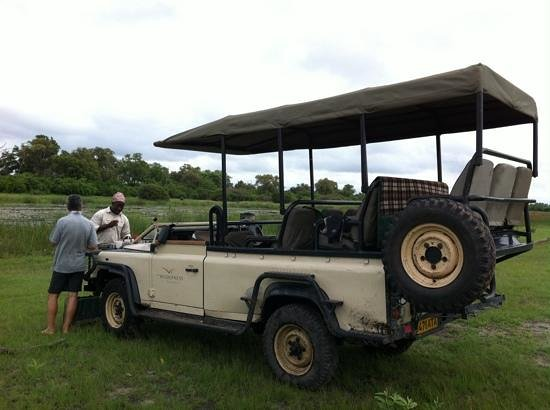Wilderness Safaris DumaTau Camp: Name and my partner at 'sundownwers'