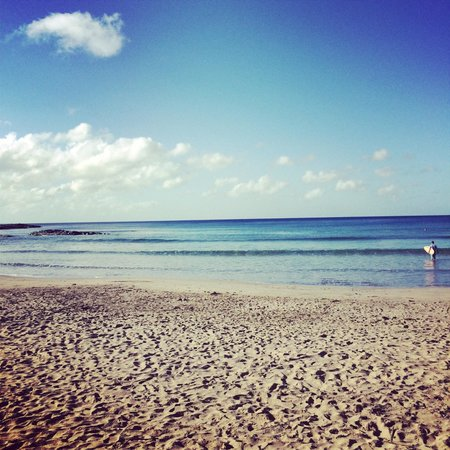 Villas Playa Maderas: beach south of villa (surfing beach)