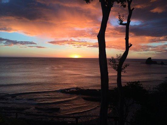 Villas Playa Maderas: sunset from deck