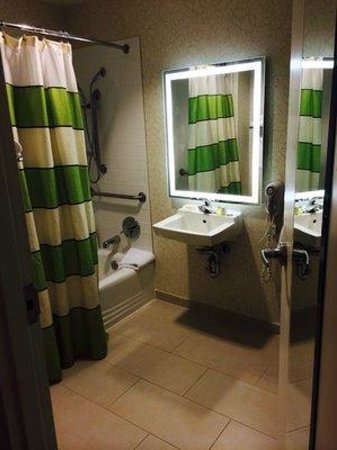 Royal St Charles Hotel: Handicap accessible bathroom