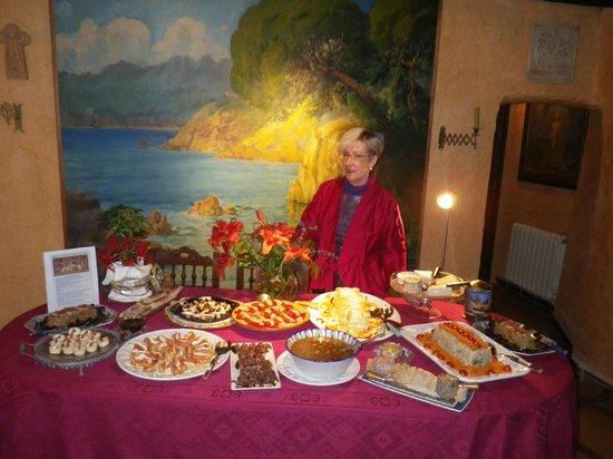 Las Moradas del Unicornio: Olga nos ofreció una fantastica cena de Fin de Año