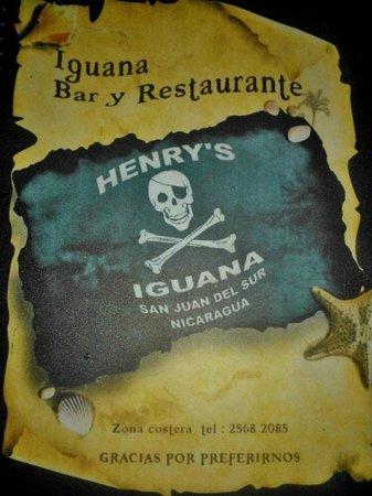 Henry's Iguana Beach Bar & Restaurant : Iguanas Bar