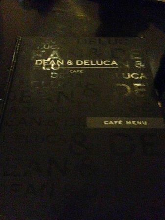 Dean & Deluca : cardápio