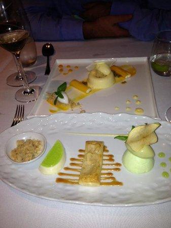 MacNean Restaurant : Desserts - Apple in foreground Mango behind