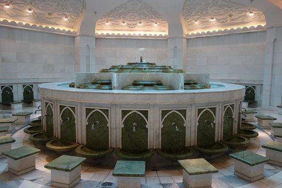 Mezquita Sheikh Zayed: no banheiro