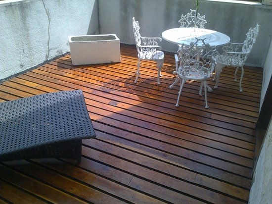The Hotel Caracas: Terrace in the room