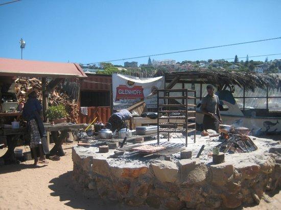 Sea Gypsy Cafe : Grillmat - litt varmt for de som jobber!