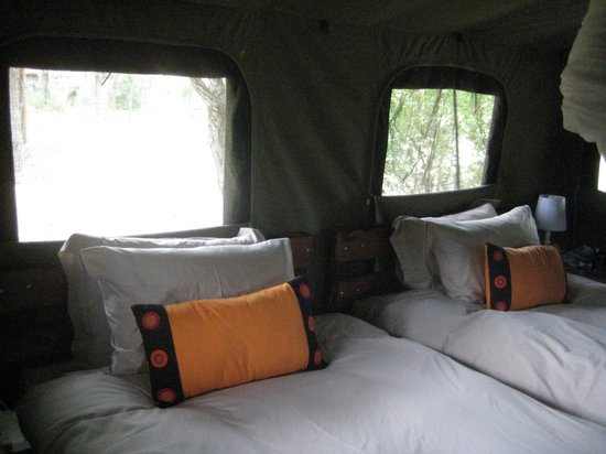 Shindzela Tented Safari Camp : Behagelige senge