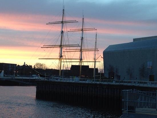 The Tall Ship at Riverside: Dusk