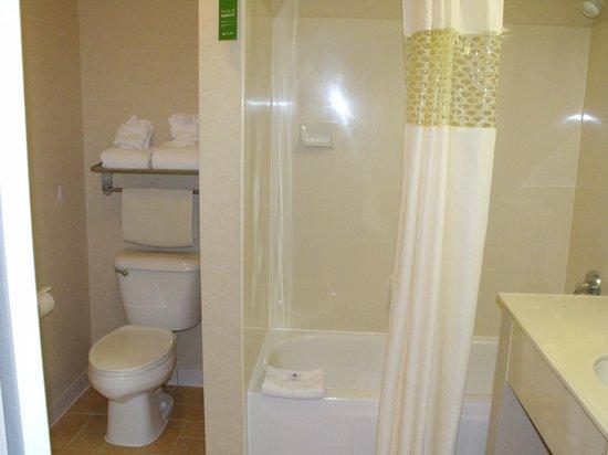 Hampton Inn & Suites Salt Lake City Airport: Bathroom, roomy!
