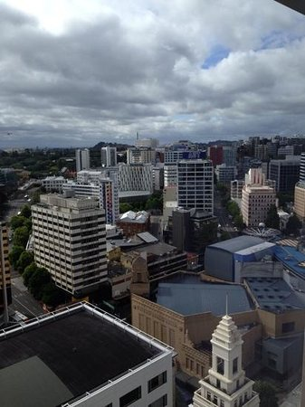 Crowne Plaza Auckland: view from our room...