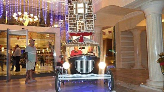 Xperience Sea Breeze Resort: amazing gingerbread car