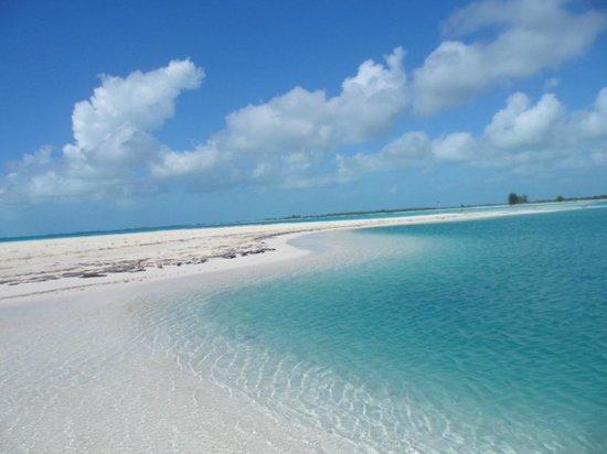 No banco de areia de Playa Paraiso