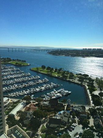 Manchester Grand Hyatt San Diego: bay view from our room