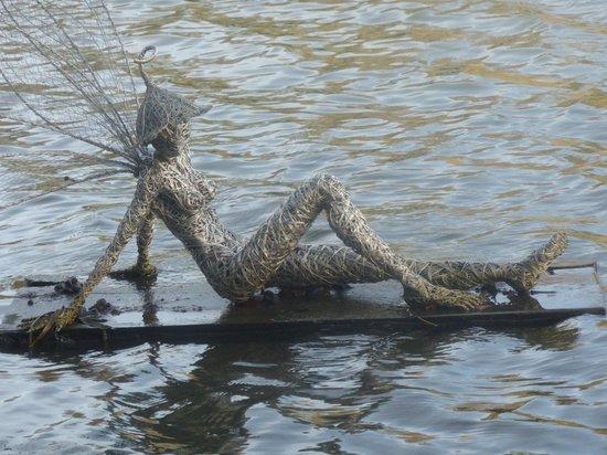 Trentham Gardens: fairies on the lake