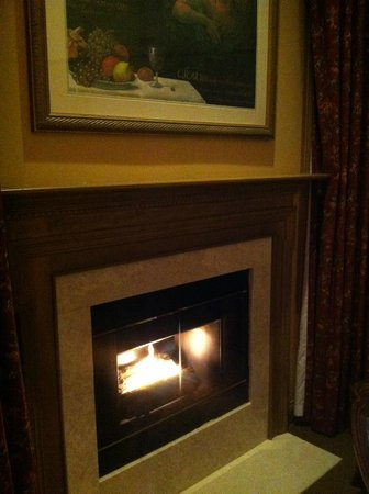The Herrington Inn & Spa: In-room fireplace