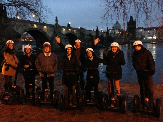 Prague Segway Tours : Towards the end of the tour - Charles Bridge in the background