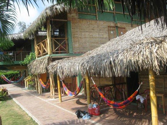 Hostal Kundalini : vista de las habitaciones