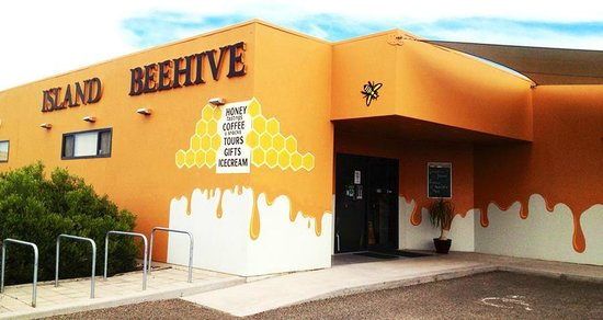 Island Beehive: Our new paint job! Bee happy :)