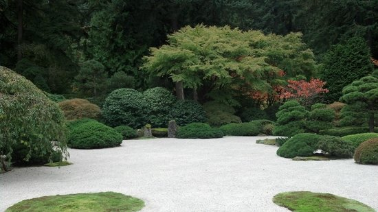 Portland Japanese Garden: The big raked rock garden