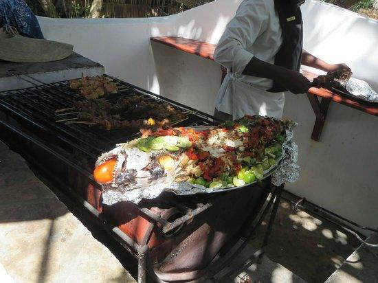 Ras Kutani: grilled snapper