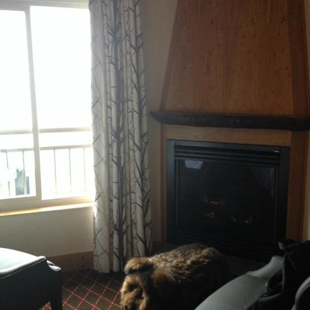 The Edgewater, A Noble House Hotel: Fireplace in room