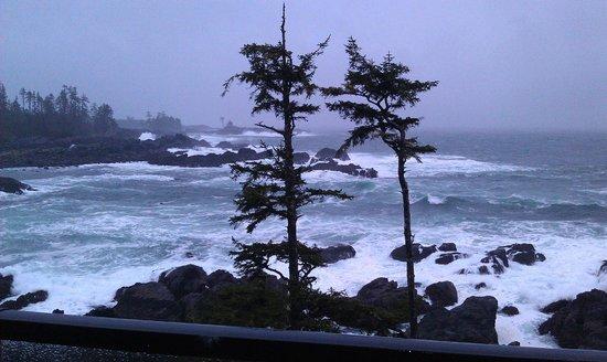 Black Rock Oceanfront Resort: Storm watching at its best!