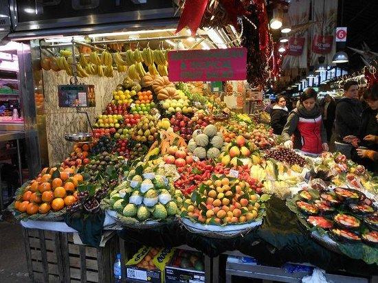 St. Josep La Boqueria : La zona della frutta