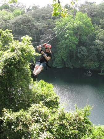 Gatun Eco Adventures: Zipping across Lake Gatun!