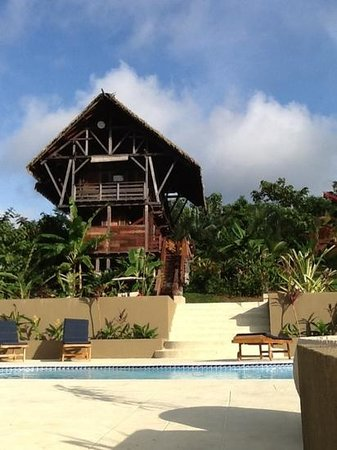 Red Frog Beach : Jungle Lodge and pool in Jungle Village.