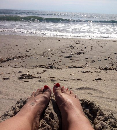 Nothing better than toes in the sand at Ocean Isle Inn!