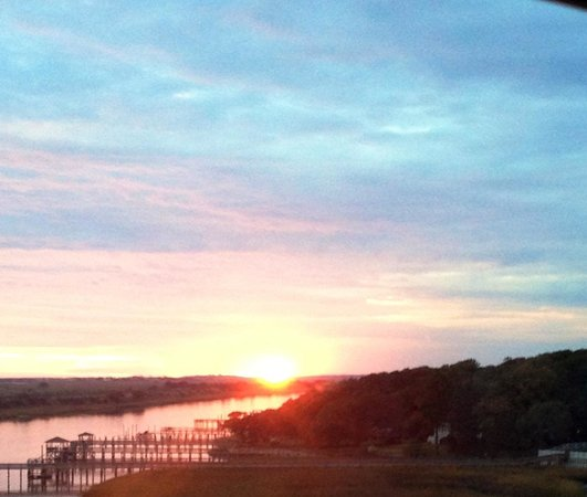 Enjoying the breathtaking views at Ocean Isle Inn