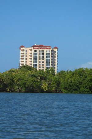 Lovers Key Resort: Resort - view from the state park estuary