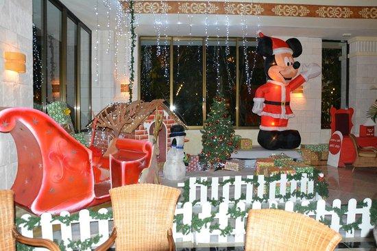 Grand Bahia Principe Coba: The Christmas display in the Coba lobby
