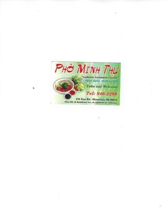 Pho Minh Thu: Business card