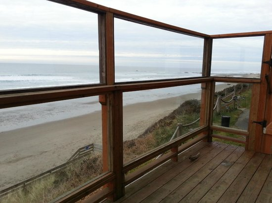 Westshore Oceanfront Motel: On the private deck.
