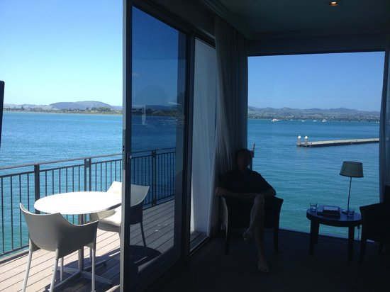 Trinity Wharf Tauranga: View from our room (partial)