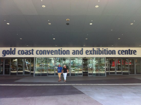 outside picture of gold coast convention and exhibition. Black Bedroom Furniture Sets. Home Design Ideas