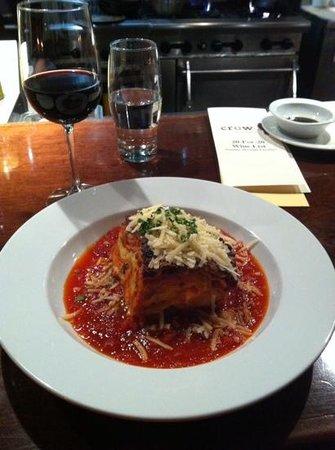 Crow Restaurant & Bar : Home made lasagna