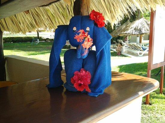 Park Royal Ixtapa: towel art at activities area