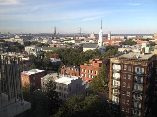 Hilton Savannah Desoto: view from the 12th floor