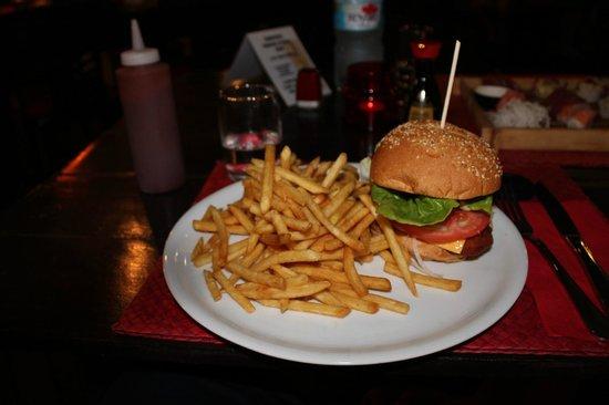 Pk0 : Fish Burger (I think it was Mahi-Mahi)