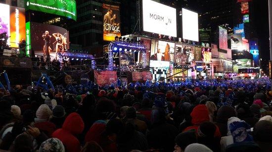 Night Times Square: Año nuevo en Times Square