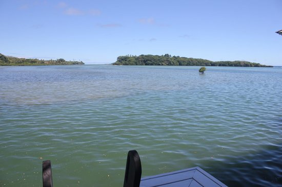 Koro Sun Resort and Rainforest Spa : View from our villa to Bat Island