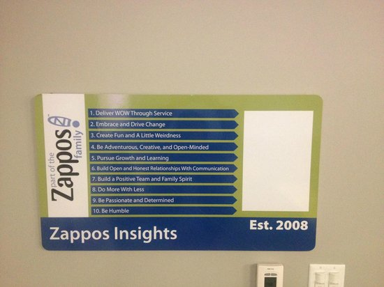 zappos com core values Around the same values and long-term vision of the company how would you  describe zappos' culture hsieh: we have ten core values.
